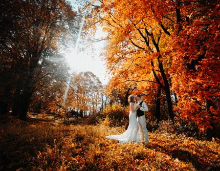 Wedding in October: Warm colors